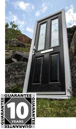 XtremeDoor composite door with 10 year guarantee badge