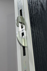 A close up of the XtremeDoor lock