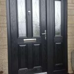 Black York with matching side light and frame with Knightsbridge glass