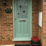 Chartwell green Devon with matching frame and green murano glass