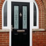 Black York in arched frame and Clear Twist glass