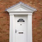 White composite door with porch
